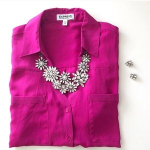 Jewelry - Crystal Flowers Statement Necklace